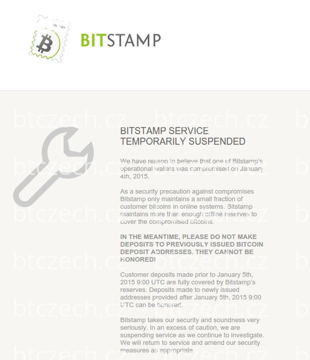 Bitcoinová burza Bitstamp kompromitována